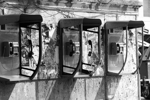 Call boxes in Tirana