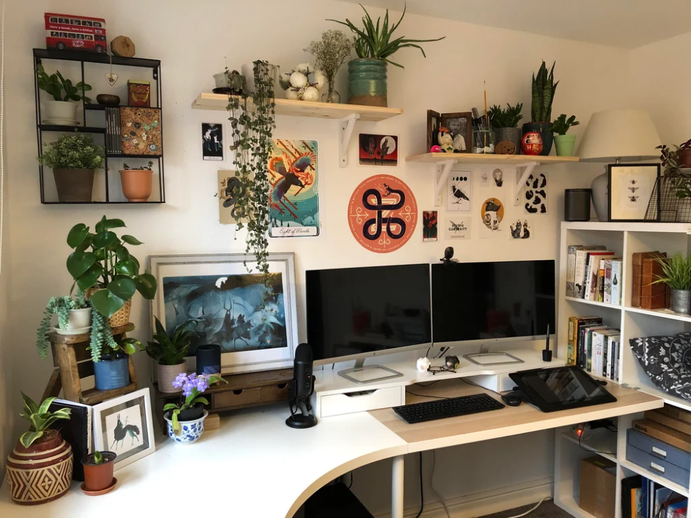 finally moved my office space into the spare room bristol