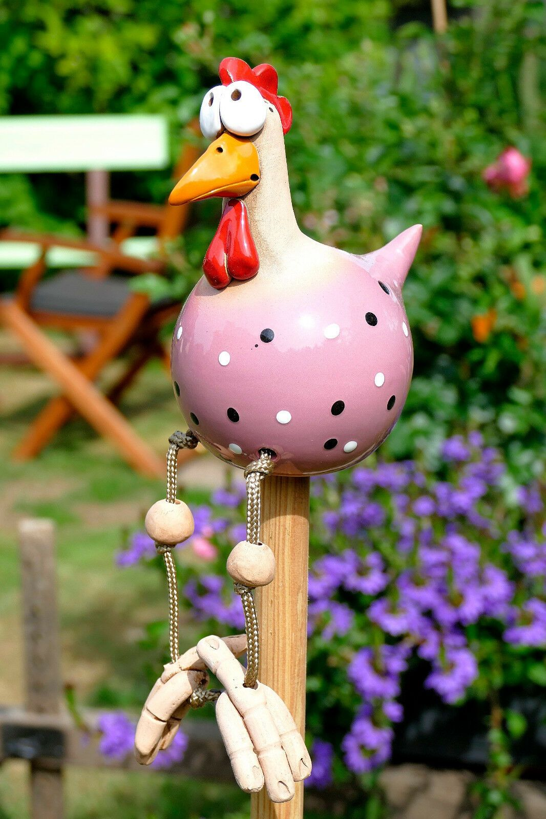 Keramik Garten Innen Wetterfest Vogel Huhn Gartenstecker Kantenhocker Hahn Ebay Huhn Handwerk Ostereier Verzieren Topferarbeiten