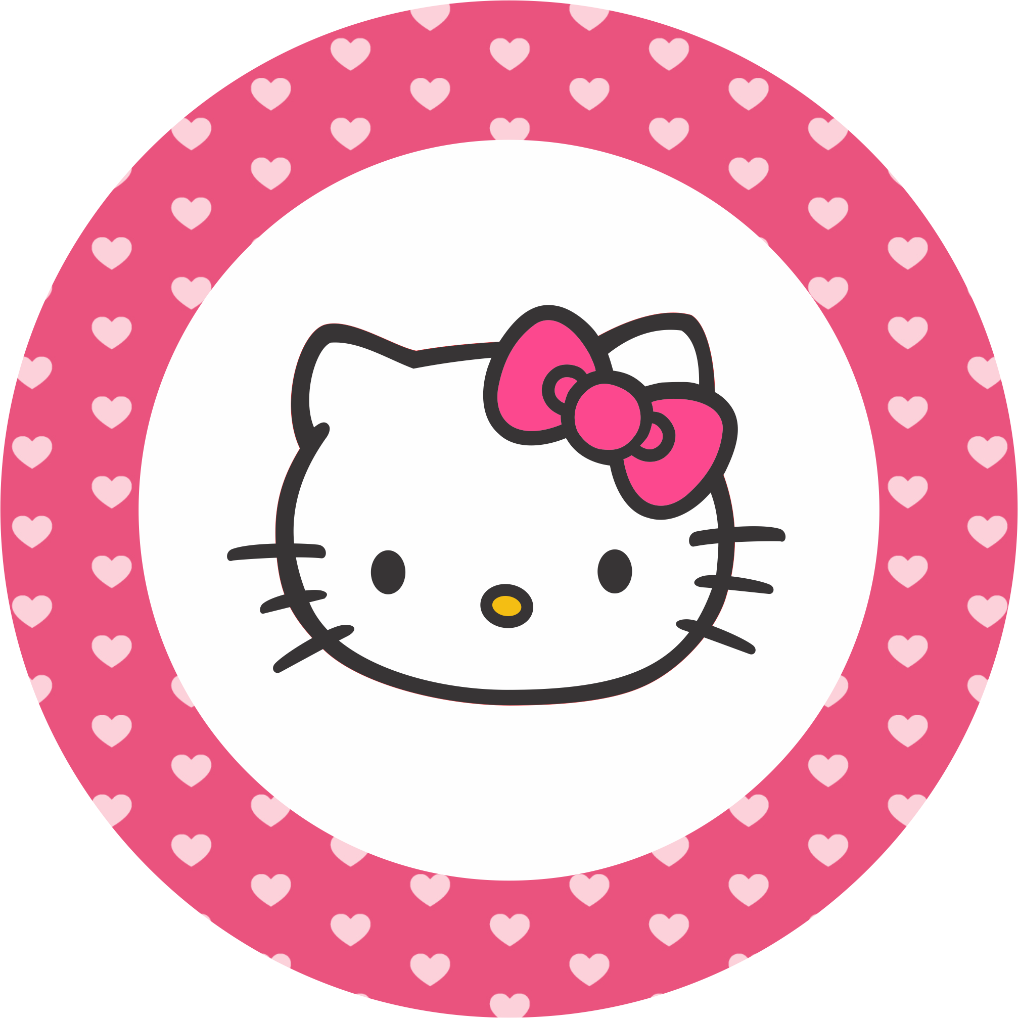 Pin by ed on cakes pinterest hello kitty kitty and for Hello kitty cupcake topper template