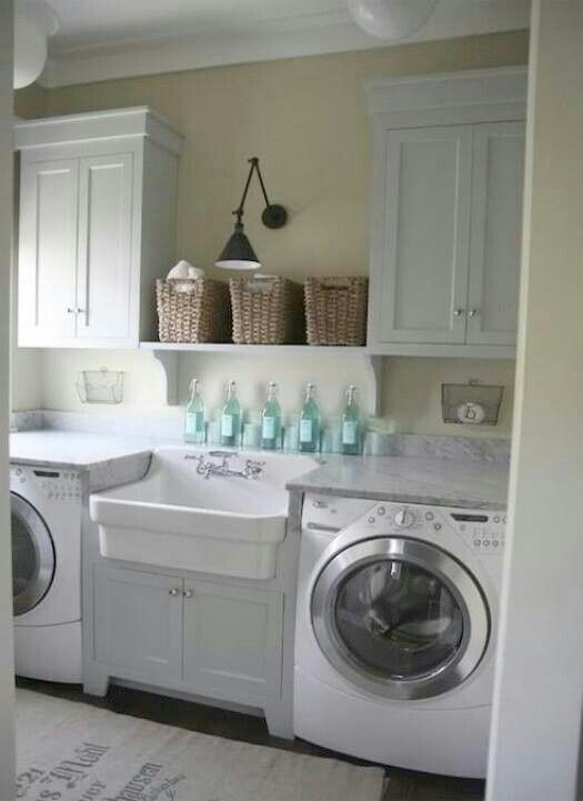 Laundry Room Ideas Wicker Baskets Warm Up The Space Hovedbad