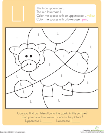 color by letter capital and lowercase l dental health lettering preschool letters. Black Bedroom Furniture Sets. Home Design Ideas
