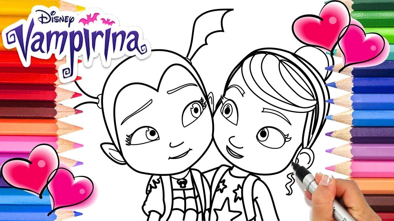 Vampirina And Poppy Coloring Book Disney Vampirina Coloring Pages Ve Coloring Books Coloring Pages Printable Coloring Pages