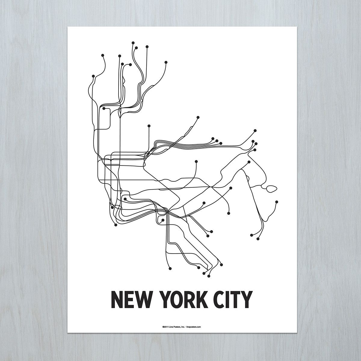 Black And White Subway Map.New York City Poster Kips Bay Apartment Fixes Map Art Nyc