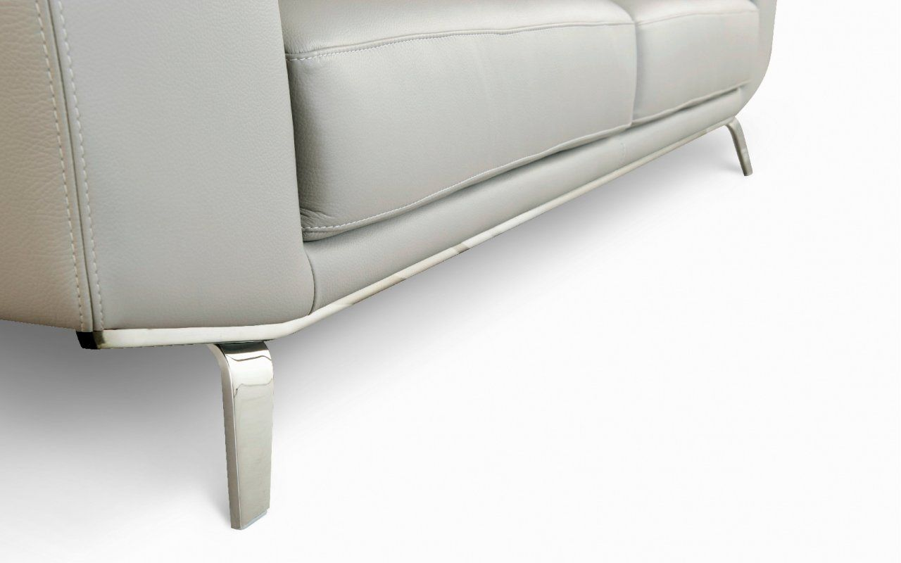 corner sofa metal legs individual 2 piece t cushion slipcover cut and folded perle for roche bobois