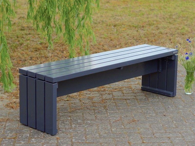Gartenbank Holz Farbe Anthrazit Grau Wetterfestes Holz