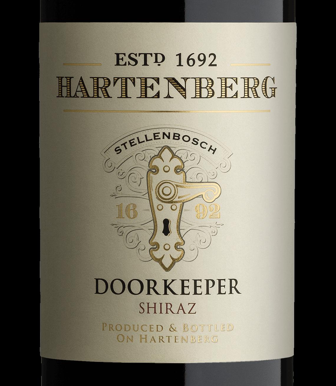 The Label Displays The Original Doorkeep On The Historic Doors Of