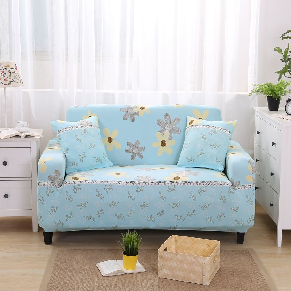 2346USD Cool floral design l shaped sofa slip covers