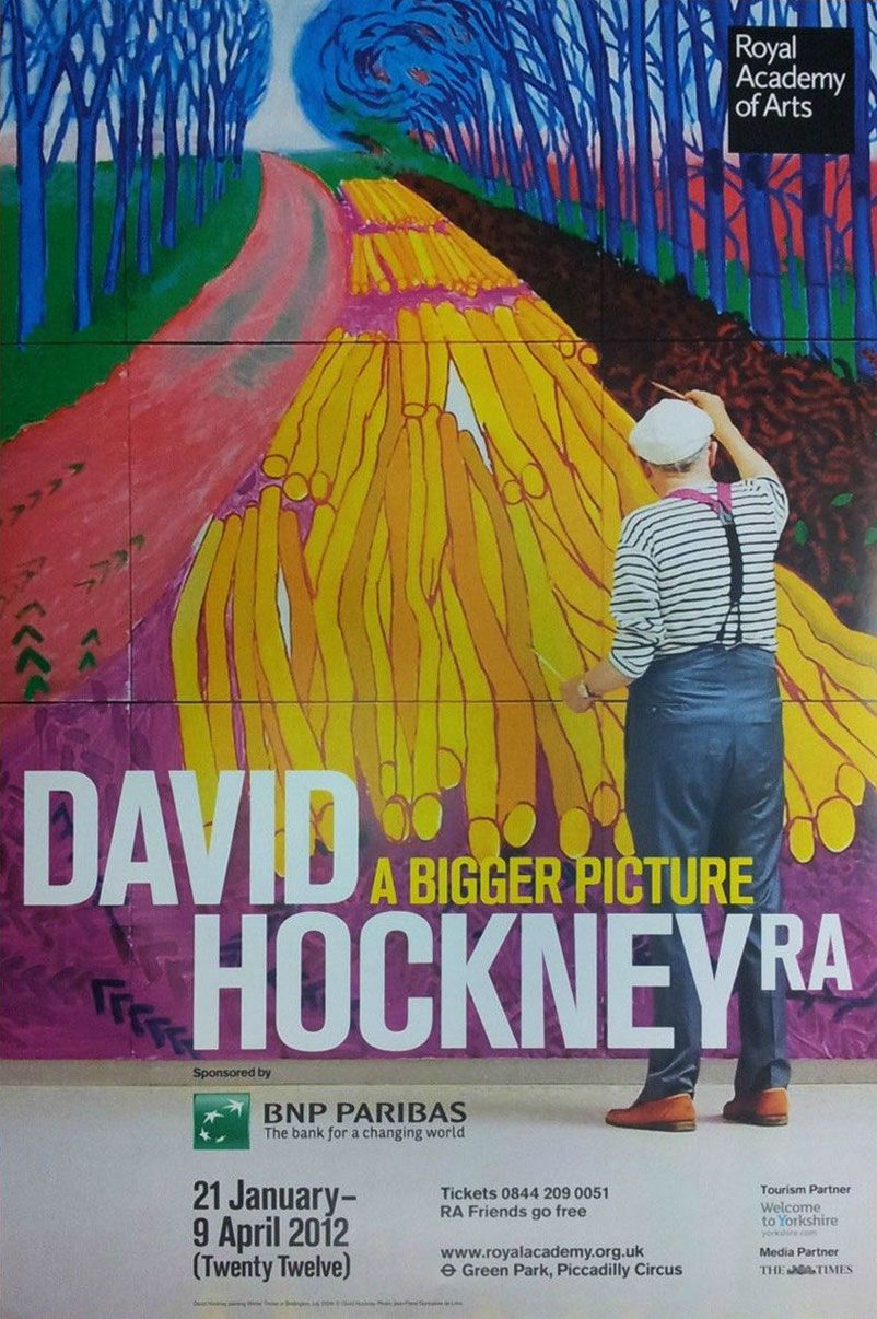 David Hockney Poster - Bigger Exhibition Ross Art Ideas