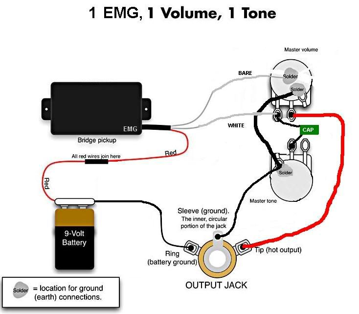 1 Emg 1 Vol 1 Tone Wire Acoustic Guitar Pickups Pick Up