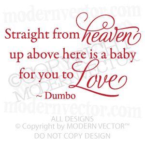 Dumbo Quotes Captivating Disney Dumbo Quote Vinyl Wall Decal Nursery Heaven Baby  Dumbo . Inspiration