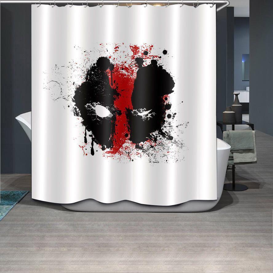 Details About 71x71 Deadpool Face Shower Curtain Fabric Bathroom
