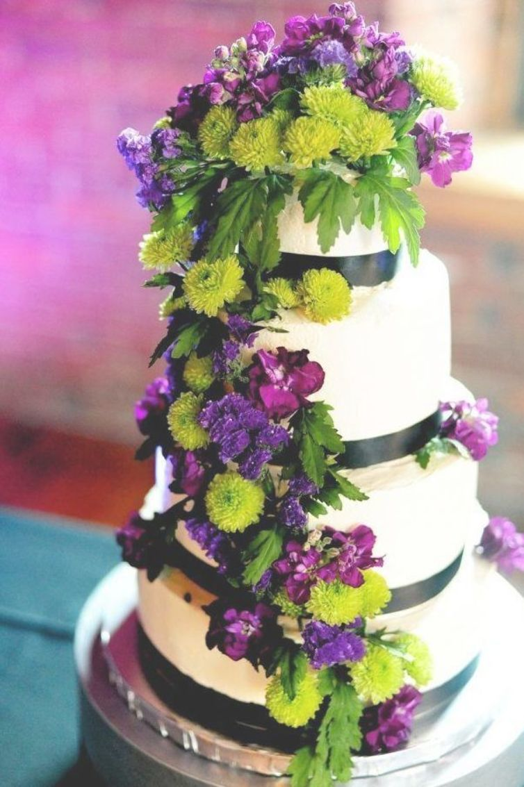 Purple And Lime Green Wedding Cakes Photo 6 Lime Green