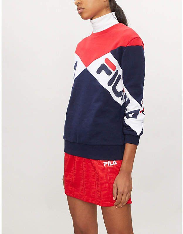 b83d08414a80 FILA Lidia cotton-blend sweatshirt   asi cs   Sweatshirts, Adidas ...