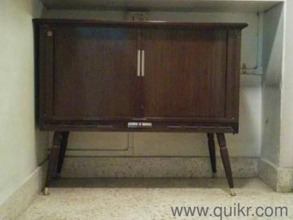 Antique Wooden Tv Cabinet 1970s Vintage With Quot National