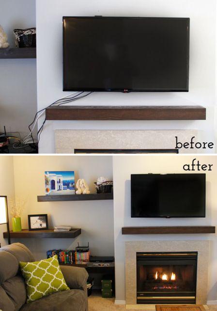 How To Hide Tv Cords Burlap And Babies Diy Maison Deco Maison