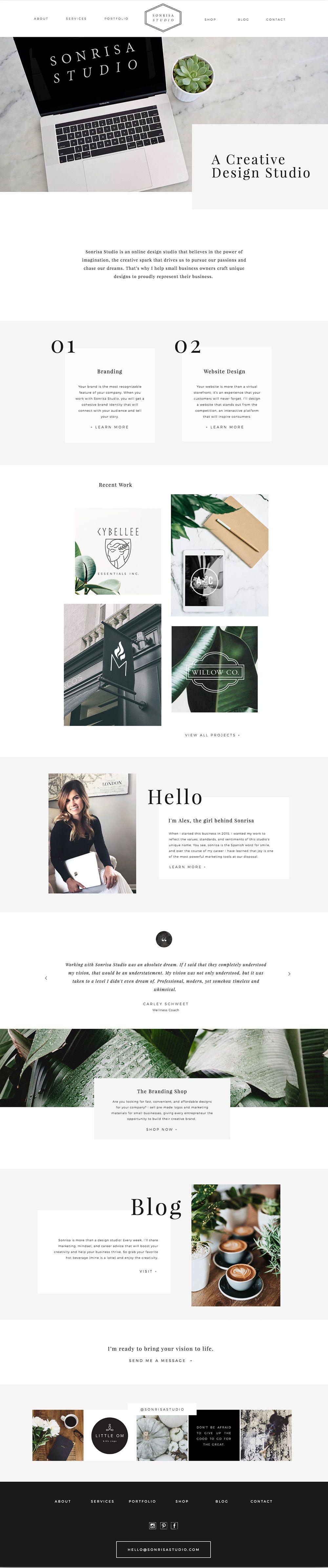 Simple Modern Fresh Website Design For A Creative Design Studio Plant Based Imagery D Website Color Schemes Portfolio Website Design Print Portfolio Design