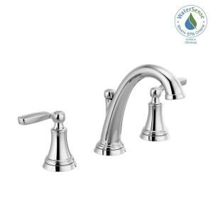 Delta Porter 8 In Widespread 2 Handle Bathroom Faucet In Brushed Nickel 35984lf Bn Eco The Home Depot Bathroom Faucets Faucet Delta Faucets
