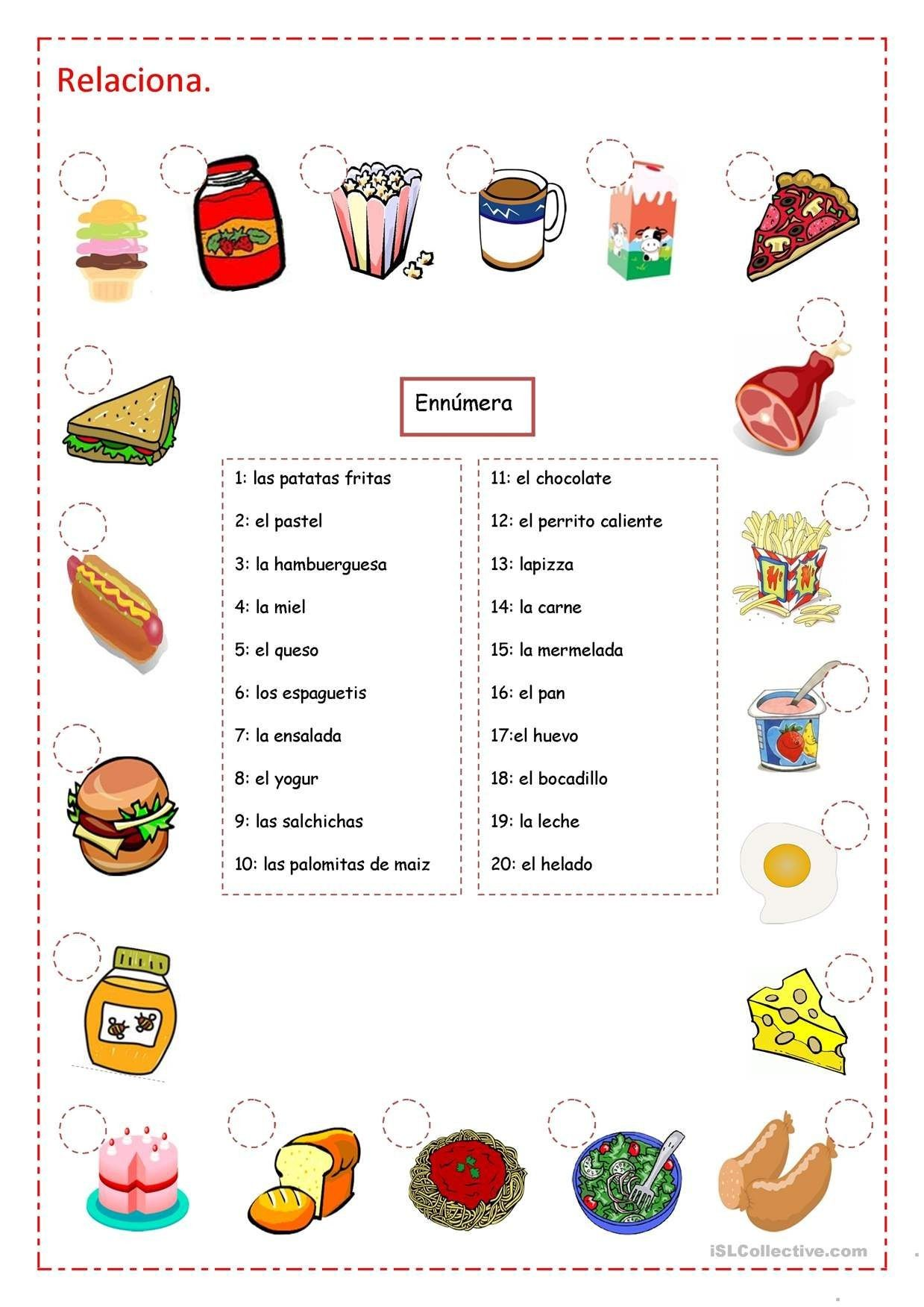 9 Linear Spanish I Worksheets In