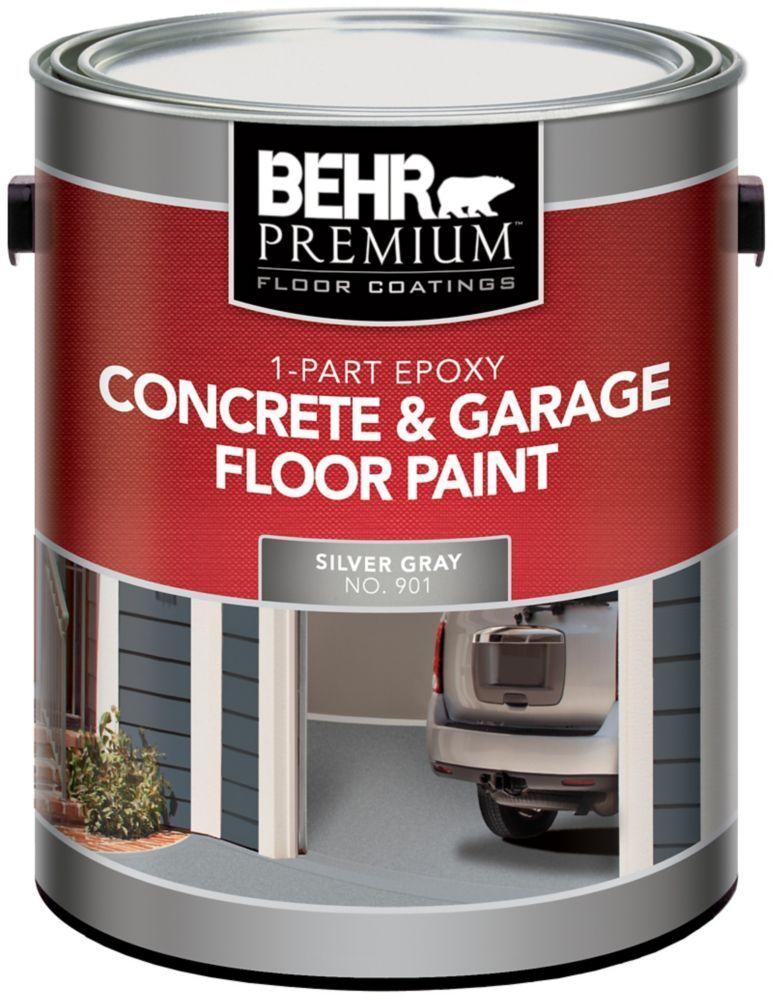 Behr 1 Part Epoxy Concrete Garage Floor Paint Silver Gray 3 79l