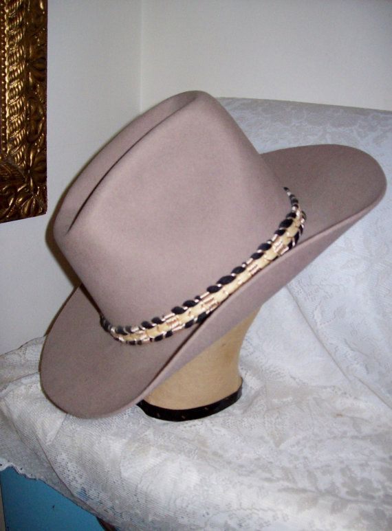 Vintage Men s Cowboy Hat Trail Boss Western Brand by SusOriginals ... a7532248bb3