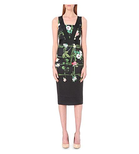 6753de0c22e48e TED BAKER Kacied Floral-Print Crepe Dress.  tedbaker  cloth  dresses ...