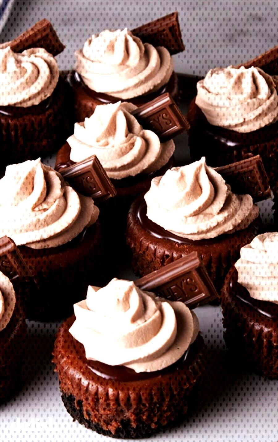 Mini Death By Chocolate Cheesecakes = no sharing required. Get the recipe at . Desserts Mini Death