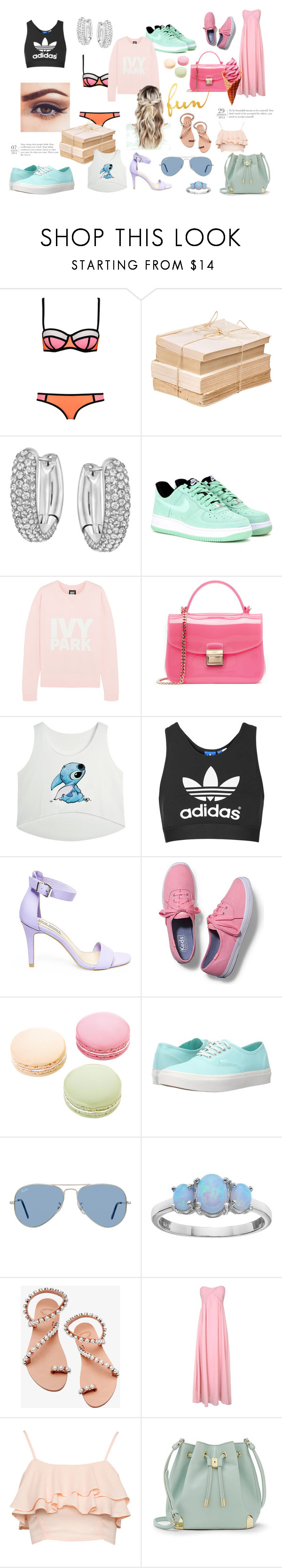 """Things I Love"" by lialicious on Polyvore featuring Swarovski, NIKE, Ivy Park, Furla, Topshop, Steve Madden, Keds, Ladurée, Vans and Ray-Ban"