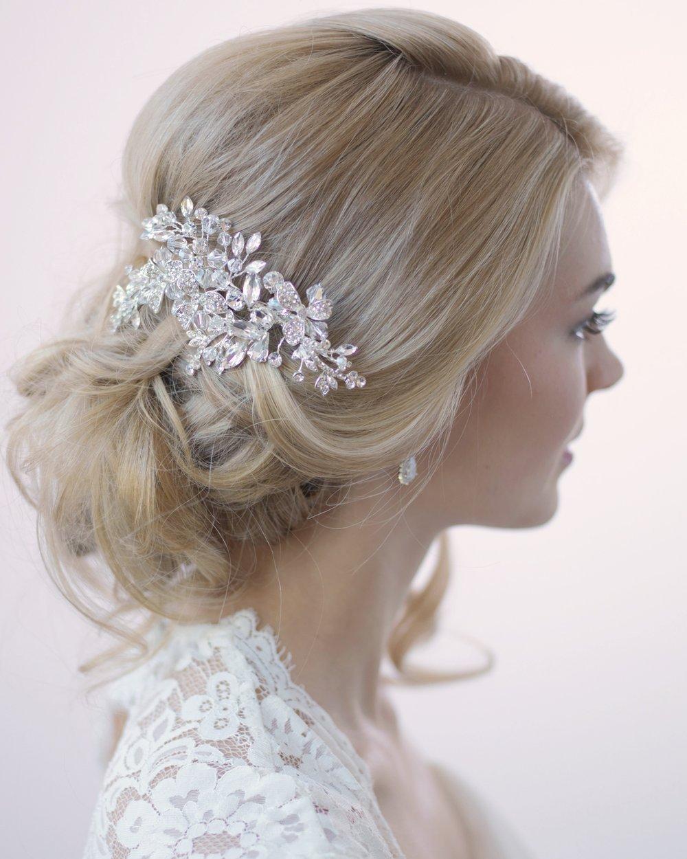 swarovski crystal floral clip in 2019 | bridal combs & clips