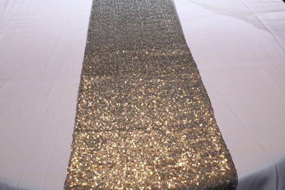 Gorgeous Shiny Silver Table Runners Are Pure Sparkly Sequins It S Perfect For Just About