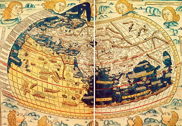 Map Of The World Before Columbus.Ptolemy S Version Of The World Printed Ten Years Before Christopher
