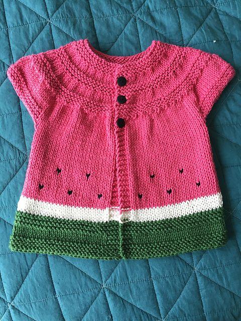 8ec2d963f in threes  a baby cardigan pattern by Kelly Herdrich