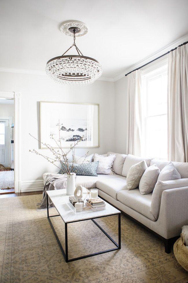 Our Living Room Reveal Lark Linen Elegant Living Room House Beautiful Living Rooms Elegant Living Room Design