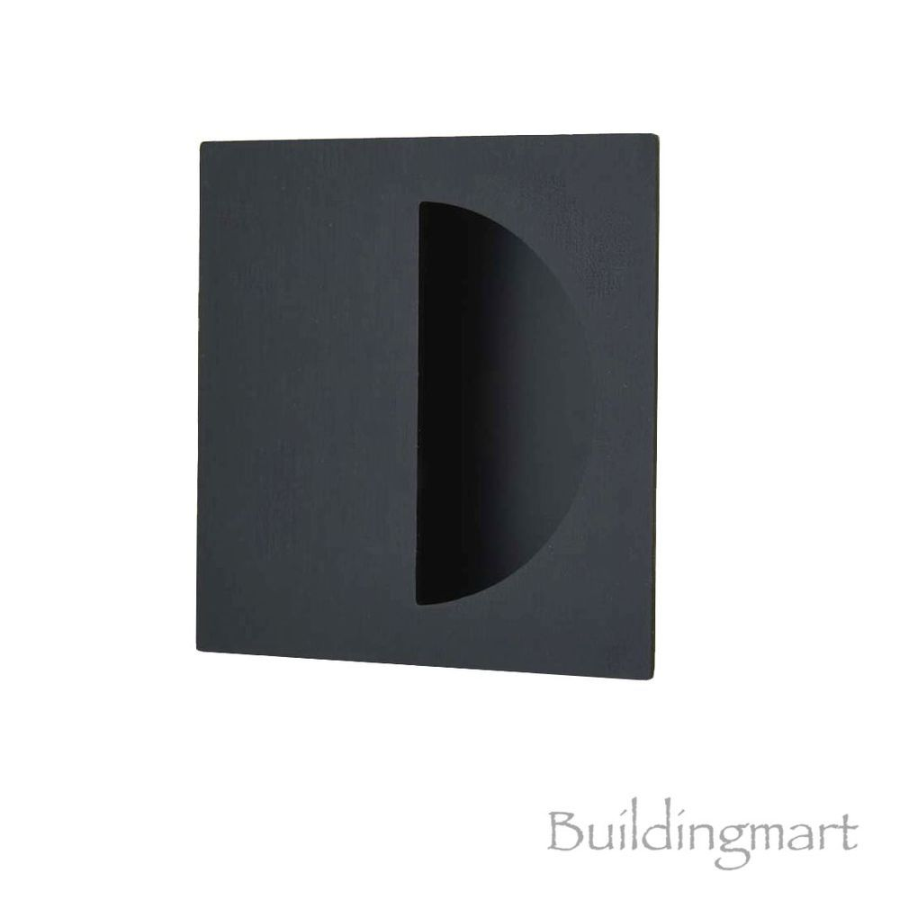 Matt Black Finish Square Flush Pull (1146) - Sliding Door Handle in ...
