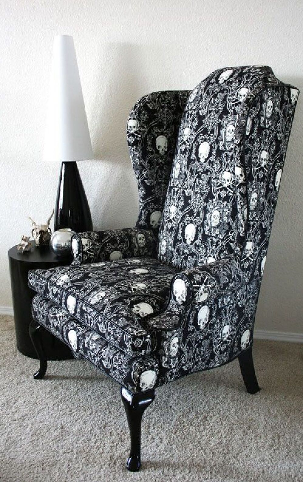 Black skull chair - Black Skull Chair Love The Pattern