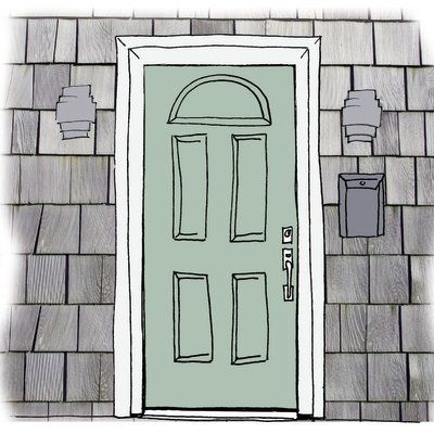 Our Favorite Front Door Color Crushes | Green play, Front doors and ...