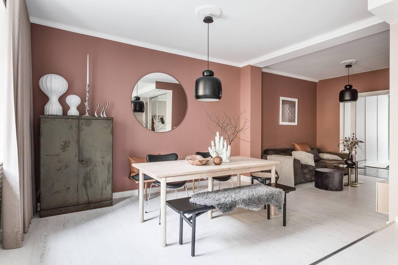 Colori Per La Camera home in soft pink | pareti soggiorno, arredamento piccola