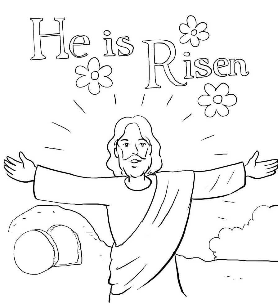 He Is Risen Jesus Coloring Pages Sunday School Coloring Pages Easter Sunday School