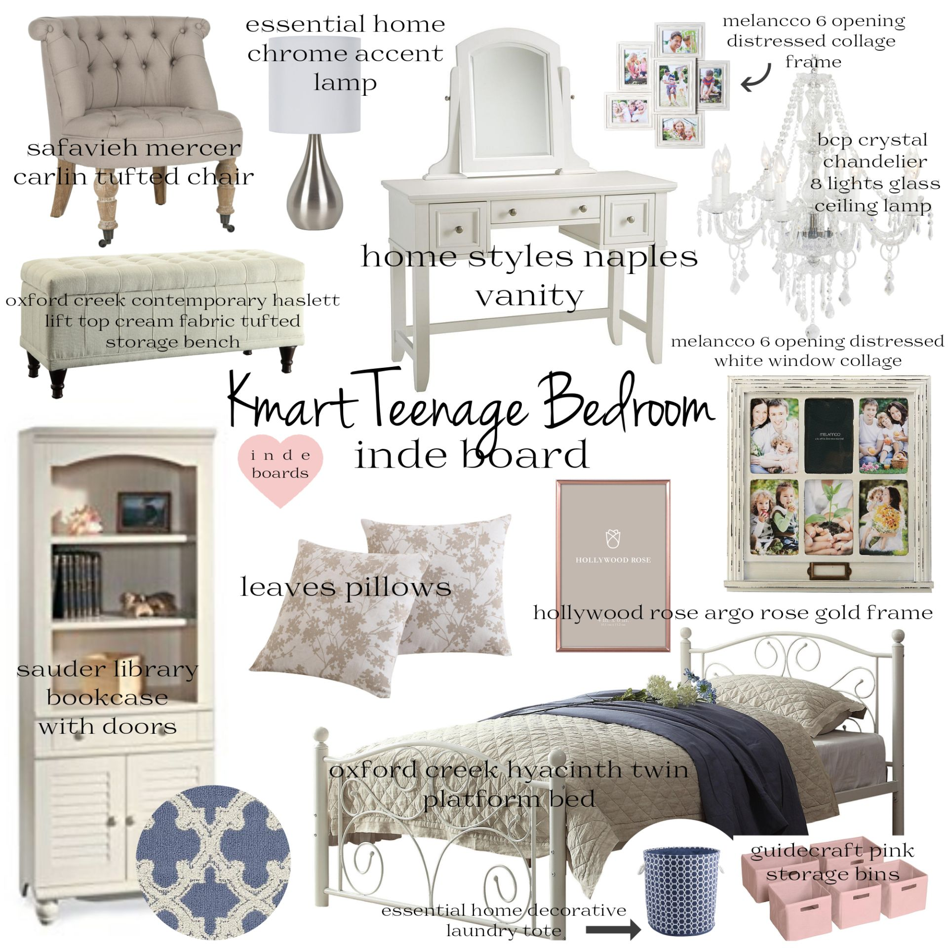 Bed Risers Kmart Australia Inde Board Kmart Teenage Bedroom Mood Board Bedrooms Teenage