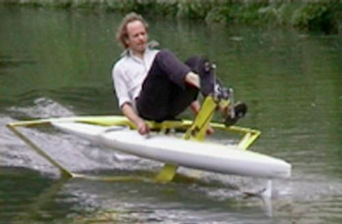 SCAFOU -Recumbent human powered hydrofoil scafou350_x_229.jpg | Water | Pinterest | Boating and ...