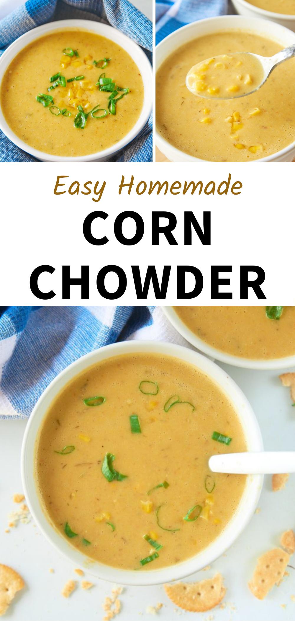 Easy Vegan Corn Chowder Wow It S Veggie Recipe In 2020 Winter Soup Recipe Chowder Recipes Easy Vegan Soup