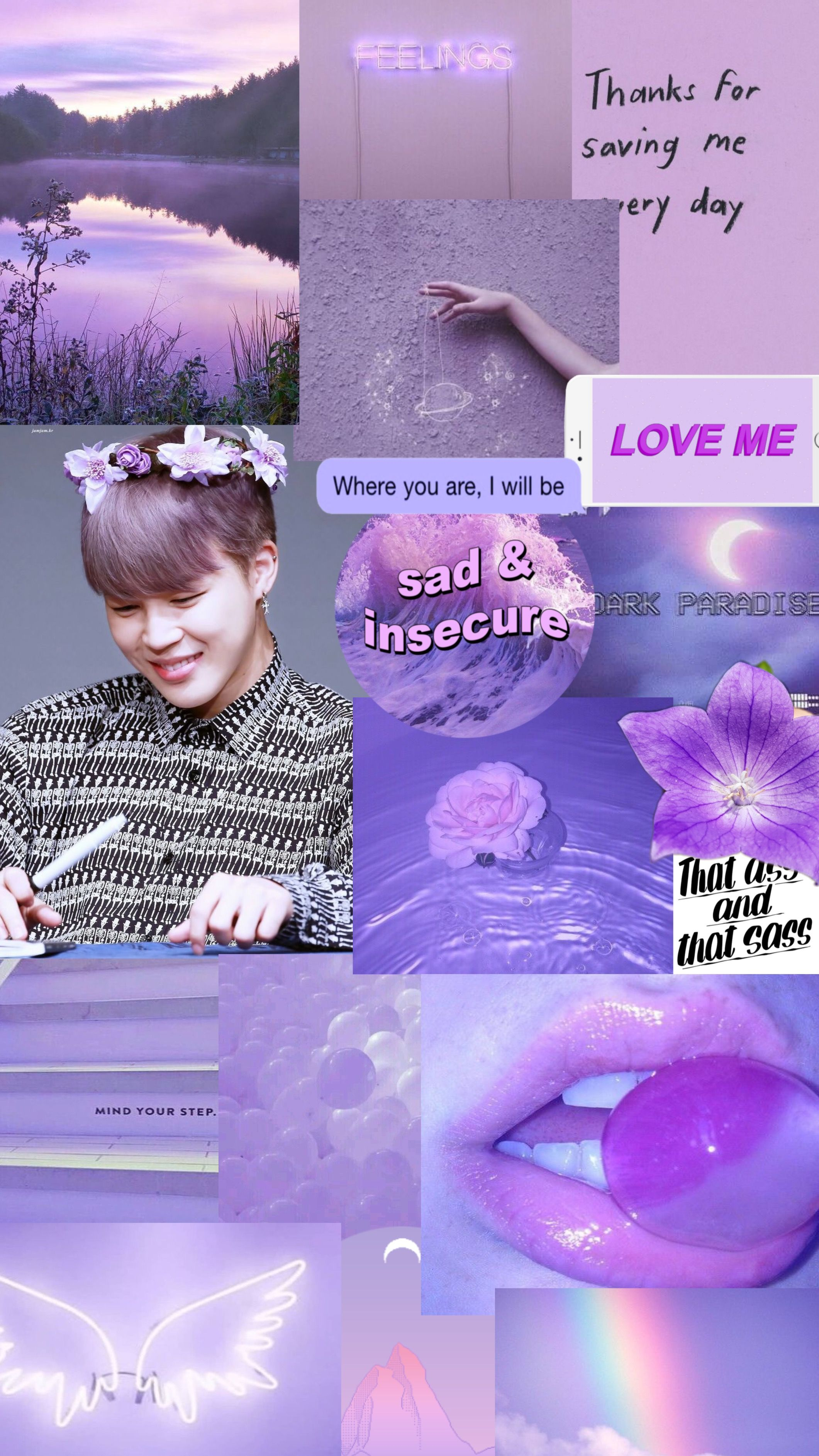 Park Jimin Bts Light Purple Lilac Soft Cute Aesthetic Viola Lilla Wallpaper Sfondi