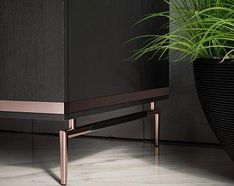 Photo of Set of 2 Coffee Table Legs, Furniture Bases, Brass Coffee Table Legs, Metal Furniture Legs, Brass Bench Leg, Custom Furniture Legs,