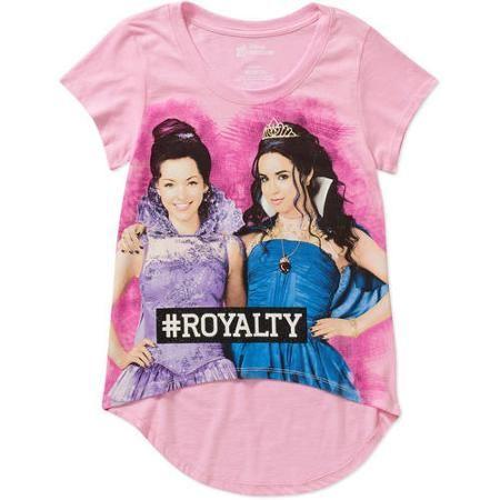 Size Xl 16 Disney Descendants Girls Short Sleeve Hi Lo Graphic Tee