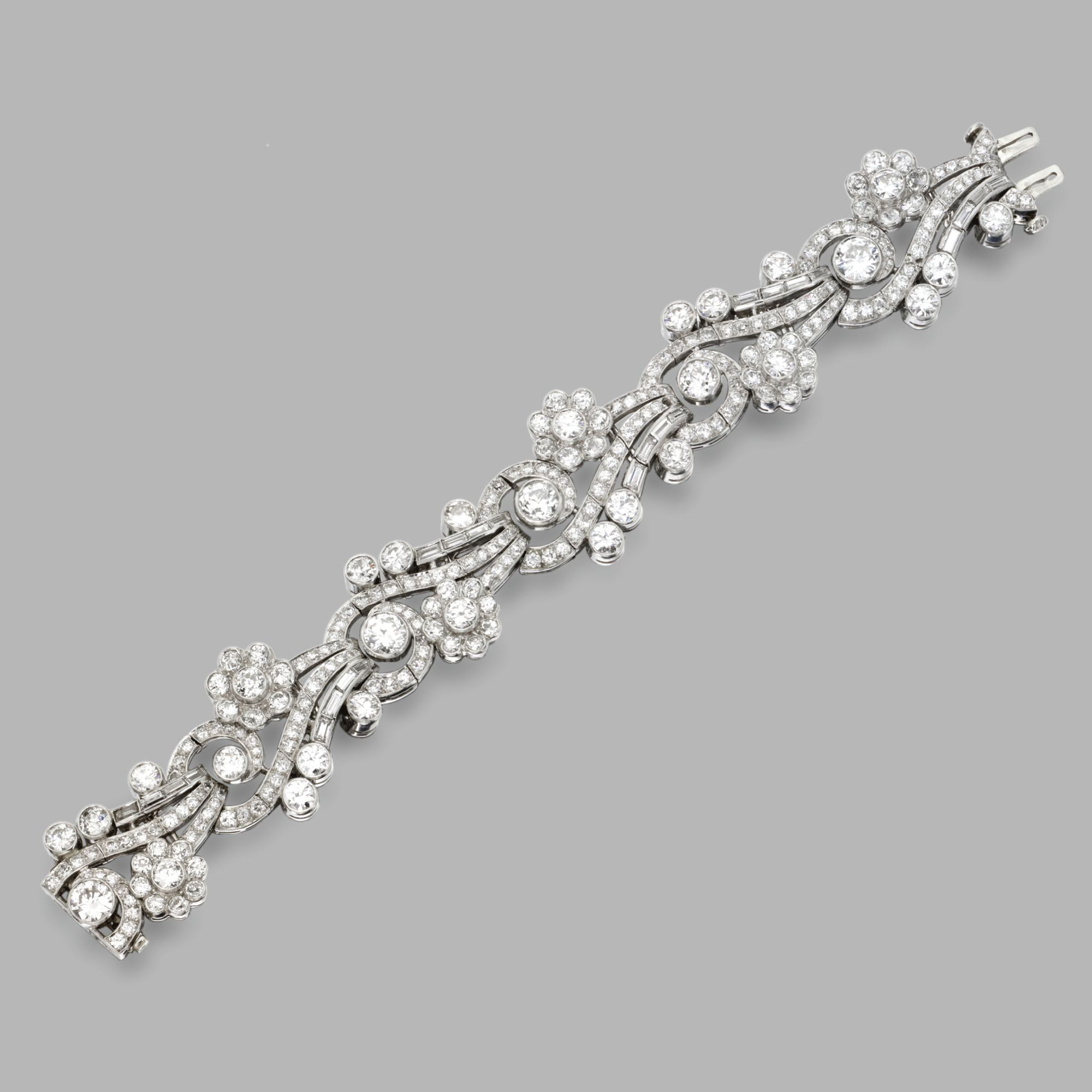 Platinum and diamond bracelet lot sothebyus wedding