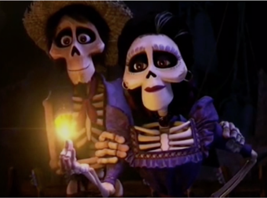 Hector and imelda with a magical blessing to miguel rivera for Imagenes de coco