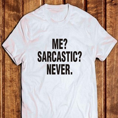 fb6aa2e911 Me? Sarcastic? Never Funny T-Shirt - Rebel Style Shop - Tell the world how  approachable you can be with this funny t-shirt. Wear it with your grunge  or punk ...