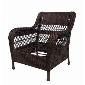 Garden Treasures Glenlee Textured Brown Steel Strap Seat Patio Chair. $122    Lowes 2015