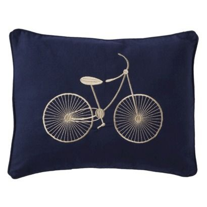 Throw Pillows With Bikes : Sheringham Road Cooper Bicycle Throw Pillow - Navy Blue Awesome, Bicycles and Chang e 3