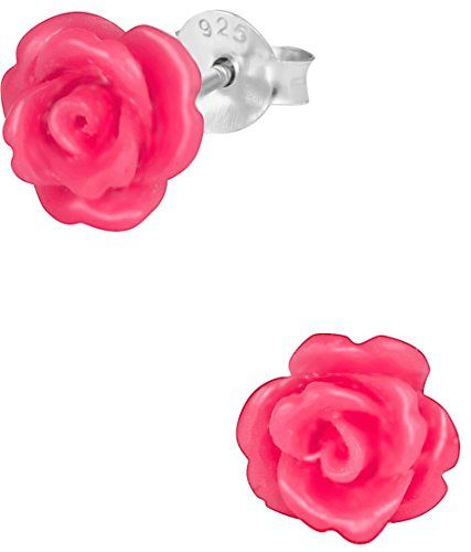 925 Sterling Silver Hypoallergenic Pink Rose Stud Earrings For S Nickel Free Read More At